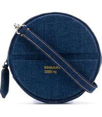 dsquared2 denim pill crossbody bag - blue