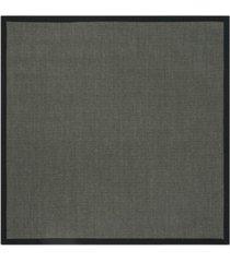 safavieh natural fiber anthracite and black 6' x 6' sisal weave square area rug