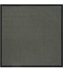 safavieh natural fiber anthracite and black 6' x 6' sisal weave square rug