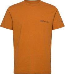halo cotton tee t-shirts short-sleeved brun halo