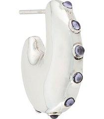 maria black caramella single earring - silver