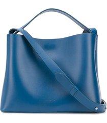 aesther ekme mini sac magnetic style satchel bag - blue