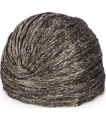 saint laurent lame knotted turban - black