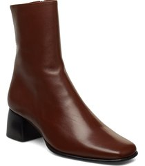 eileen leather boot shoes boots ankle boots ankle boot - heel brun filippa k