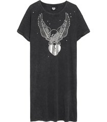 jurk silver eagle zwart
