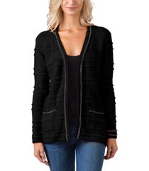 belldini black label chain embellished long sleeve cardigan
