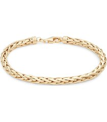 saks fifth avenue women's round spiga 14k yellow gold chain bracelet - size 7.5