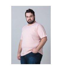 camiseta básica masculina plus size rosa camiseta básica masculina plus size rosa ex kaue plus size