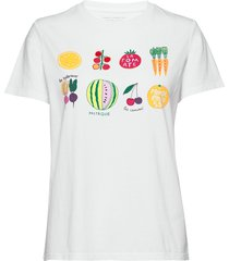 pf le legumes boyfit tee t-shirts & tops short-sleeved vit french connection