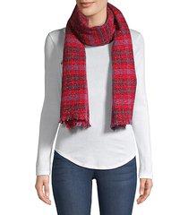 trikila sparkle plaid scarf