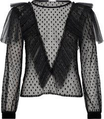 maxima top blouse lange mouwen zwart ida sjöstedt