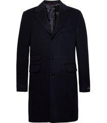 wesley wool cashmere coat wollen jas lange jas blauw morris