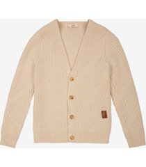 jacquard cardigan neutral 60