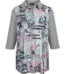 poloshirt m. collection roze::grijs::zwart