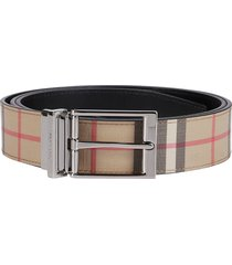 burberry checked buckle belt
