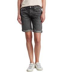 rag & bone women's rosa mid-rise denim walking shorts - black - size 27 (4)
