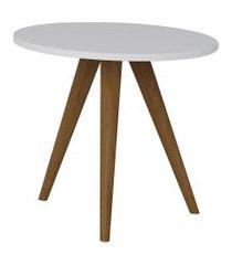 mesa lateral retrô be mobiliário redonda 41.5cm pés palito