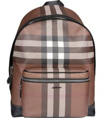 burberry check print backpack