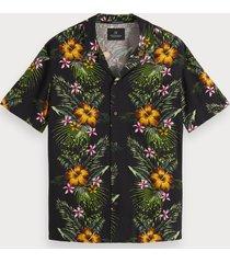 scotch & soda overhemd met tropische print | hawaii fit