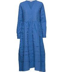 enyellow ls dress 6698 jurk knielengte blauw envii