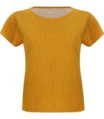 camiseta amarilla puntos blancos color amarillo, talla m