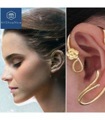 beauty and the beast earrings ear cuff belle cosplay gold plated rose earstud