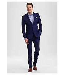 travel tech slim fit windowpane plaid men's suit by jos. a. bank