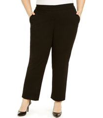 kasper plus size pull-on modern dress pants