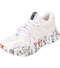 tenis moda dama sneakers blanco tellenzi 228