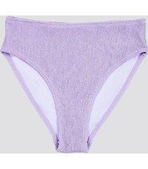 high waist bikinitrosor i crepe-kvalitet - lavendel