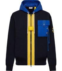 x jw anderson felpa zip-up hoodie