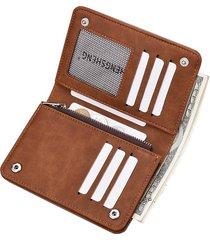 billetera super- cartera con cremallera monedero de-marrón