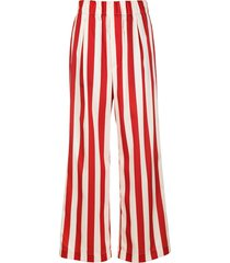 jejia vertical-stripe flared trousers