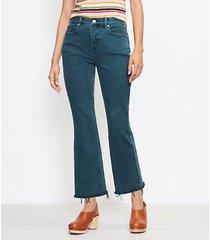 loft curvy high rise kick crop jeans