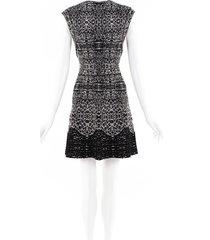 alaia stretch knit wool dress