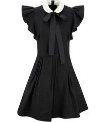 soft fluid dress with pleated