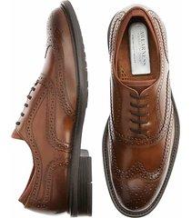 awearness kenneth cole men's corbin black wingtip dress shoes - size: 8 d-width