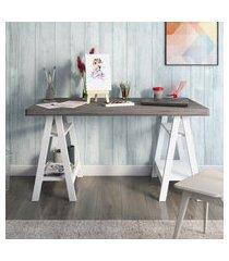 mesa escrivaninha artany art ii home office dakar e branco