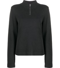 ymc ribbed high-neck sweatshirt - black