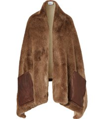 burberry paneled cape - brown