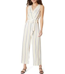 women's bb dakota know your stripe tie waist jumpsuit