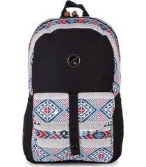 mochila hang loose para notebook astral em algodão e jacquard
