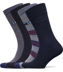levis giftbox reg cut stripes 4p underwear socks regular socks blå levi´s