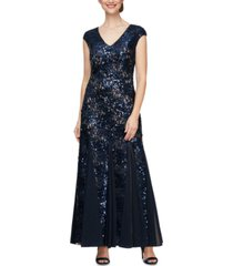 alex evenings petite sequined gown