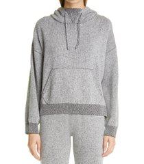women's john elliott two-tone wool & cashmere hoodie, size 2 - grey