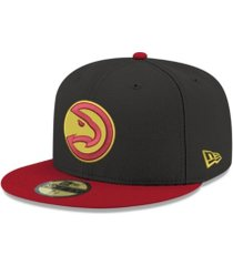 new era atlanta hawks basic 2 tone 59fifty cap