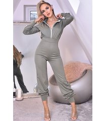 ctw tanya hooded loungewear jumpsuit groen