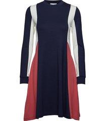 mandy dress knälång klänning blå wood wood