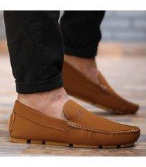 zapato mocasín  - miel