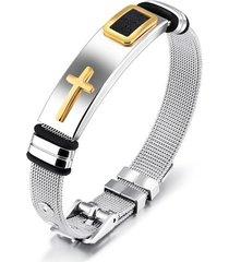 pulsera manilla hombres acero inoxidable 18.5cm 80544